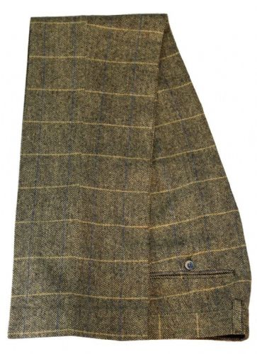 Cavani Tweed Check Trousers - Brown